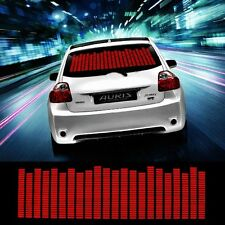 Zone Tech Sound Music Beat Car Stickers Equalizer Glow LED Light  (Red)