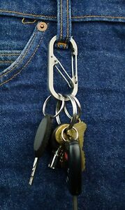 Titanium-Binary-Carabiner-Safety-Cage-with-Bottle-Opener-EDC-IOMAA