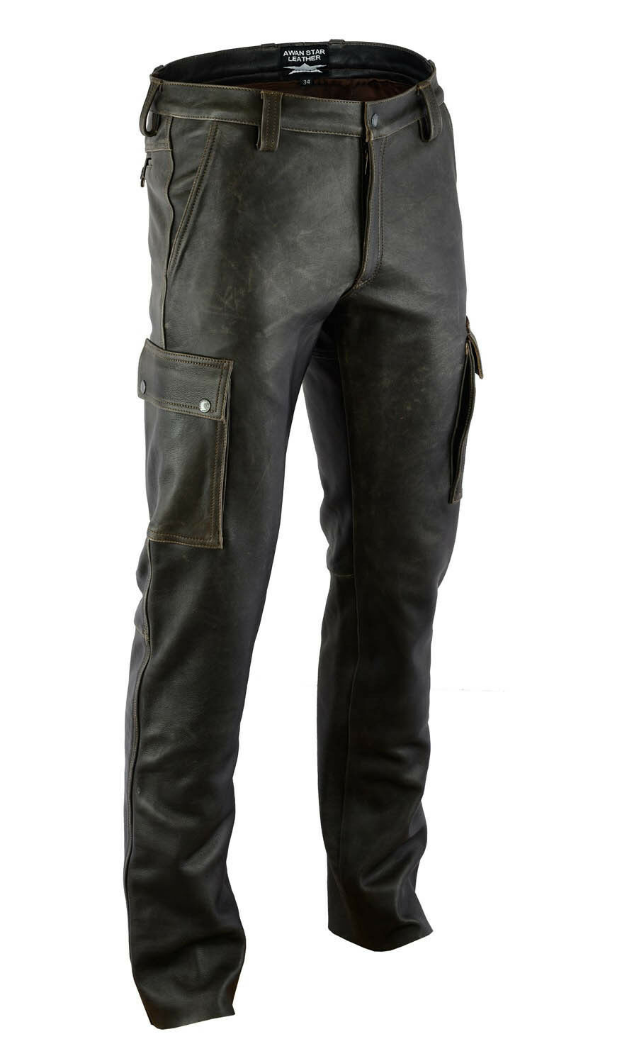 AW7910 antik Leather combat trousers,Cargo trousers,Cargo Hose,pantalon n cuir