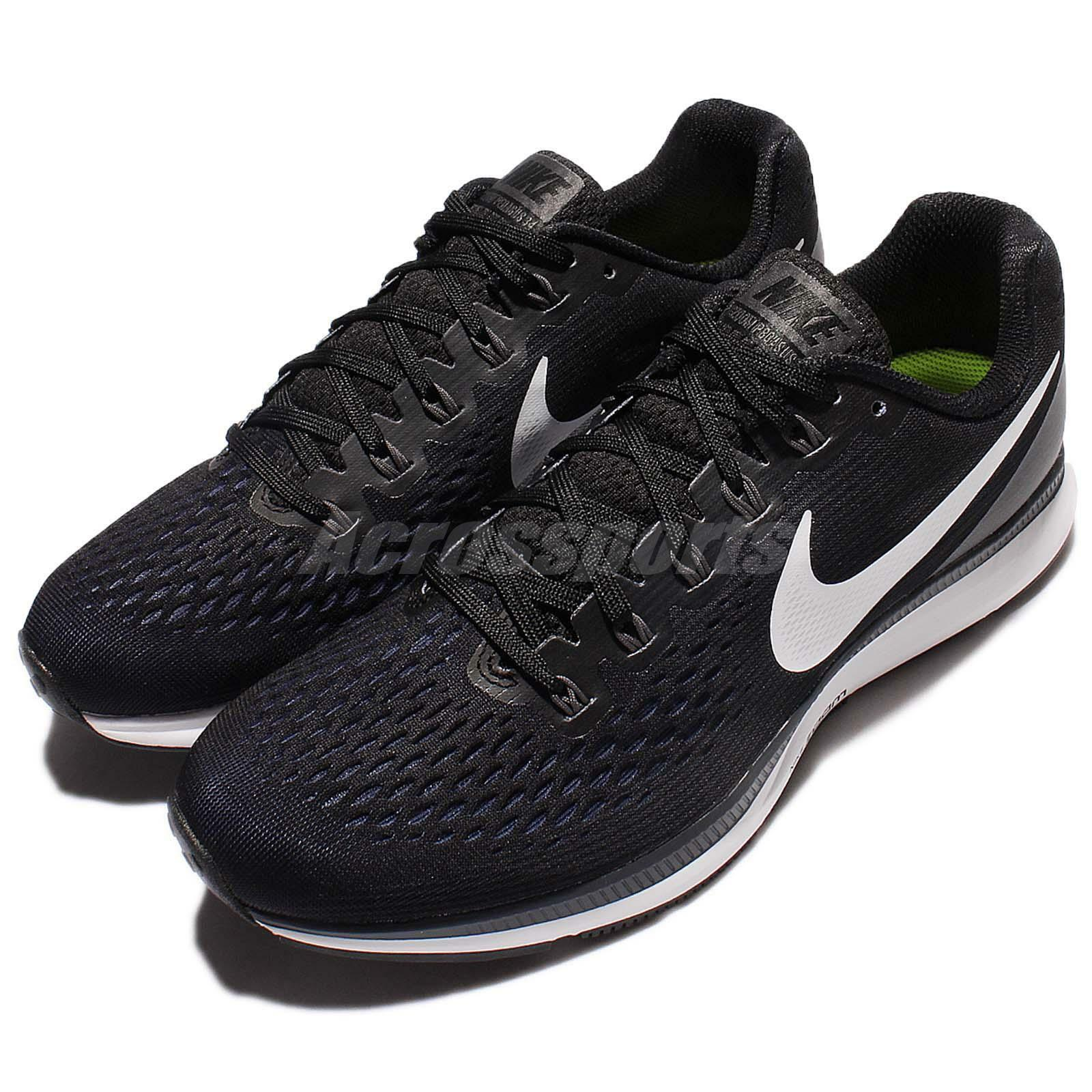 Nike Air Zoom Pegasus 34 Black White Men Running Shoes Sneakers 880555-001