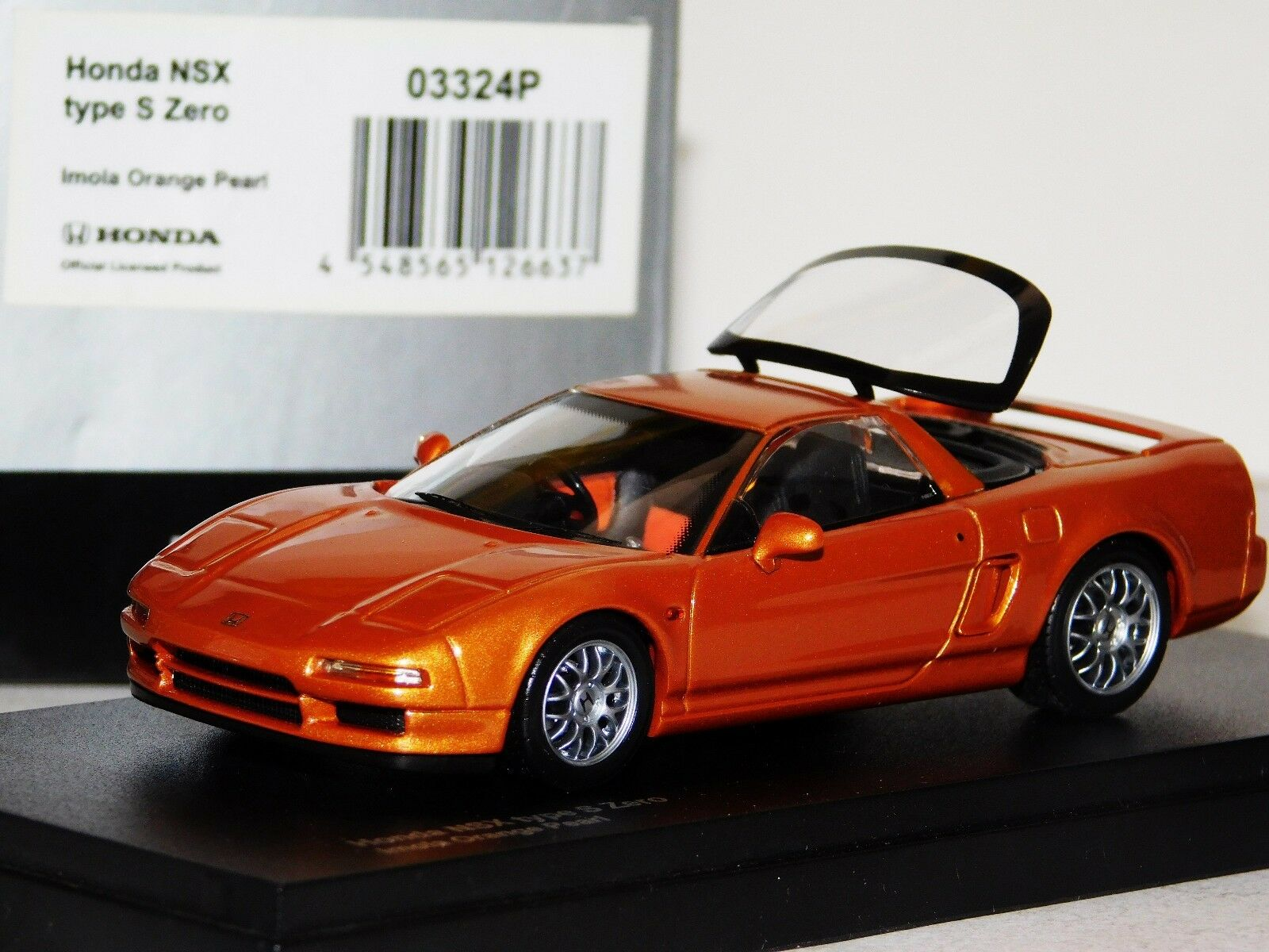 HONDA NSX TYPE S ZERO IMOLA arancia PEARL OPENING REAR WINDOW KYOSHO 03324P 1:43
