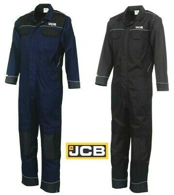 LiebenswüRdig Mens Jcb Work Wear Coverall Boiler Suit Overall Navy Black Farm Mechanics Size