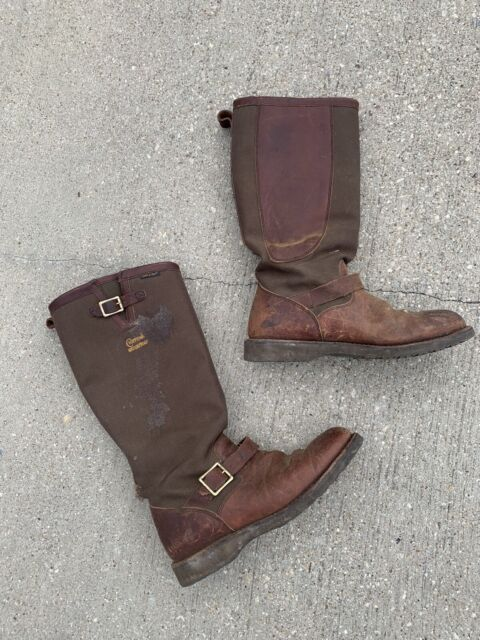 Chippewa Snake Proof Pull On Boots 23913 11D Distressed Cool Canvas Leather