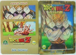 Dragon-Ball-Z-034-SS-Goku-034-Giochi-Preziosi-serie-GOLD-n-42-lenticolare