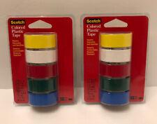 "3M 190T Scotch Waterproof Vinyl Plastic Colored Tape .75/"" x 125/"""