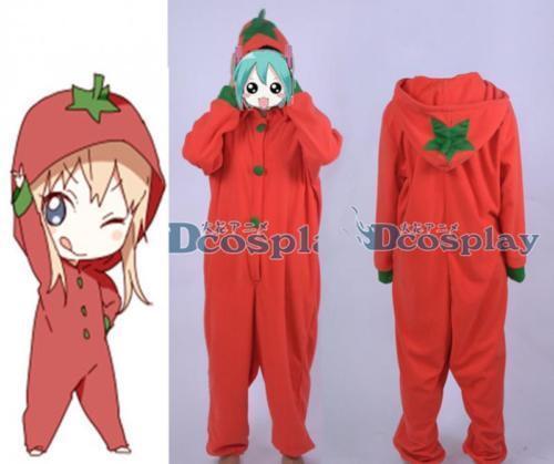 YuruYuri Kyōko Toshinō Tomato Red Sleepwear Nightclothes Cosplay Costume YIFU