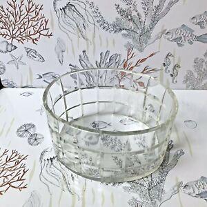 100% Vrai Art DÉco JardiniÈre En Cristal FacettÉ / Chiseled Cristal 1930's Planter Saveur Pure Et Douce