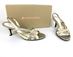 1cf822de14a0 Image is loading Naturalizer-Prissy-Womens-Heels-Shoes-Slip-On-Slingback-