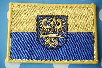Oberschlesien Schlesien Aufnäher Aufbügler Patch Flagge