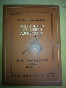 Gottfried-Keller-Das-Faehnlein-der-sieben-Aufrechten-Hamburger-Leseheft-Nr-11