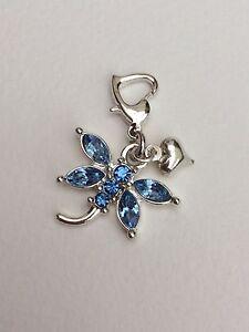 Blue-Dragonfly-Clip-On-Charm-Bracelet-Clip-On-Gift