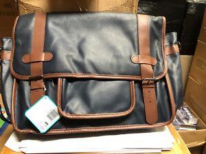 X-Tesco Satchel Baby Nappy Adjustable Strap Changing Bag - Navy Pockets Mat