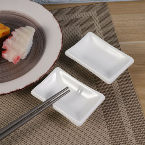 2X 3/'' Snack Dish Ceramic Serving Tray Dip Bowl Appetizer Condiment Sauce Dishes