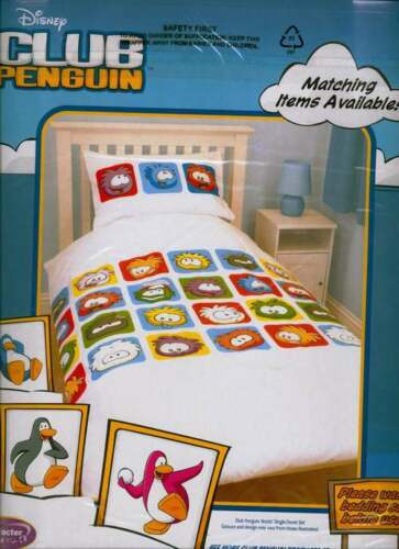 DISNEY CLUB PENGUIN SINGLE QUILT DOONA COVER SET NEW