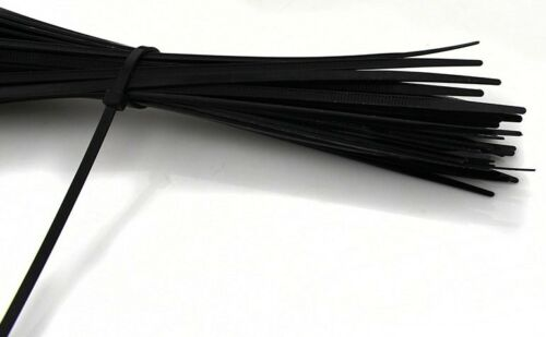 """100 PCS Pack 12/"""" inch  Black Network Cable Cord Wire Tie Strap Zip Nylon"""