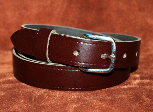 Brown 25 mm Wide Hand Made Real Leather Belt 1 inch Trouser XL XXX Large D12