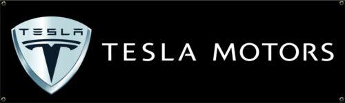 TESLA Sign Vinyl Banner Flag  Garage Workshop Adversting Many Size