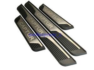 For Renault Captur Accessories Steel Door Sill Protector Scuff Plate