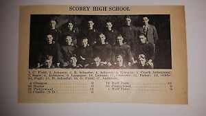 Scobey Montana High School 1928 Football Team Picture