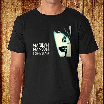New Marilyn Manson Logo Metal Rock Icon Legend Men/'s Black T-Shirt Size S to 3XL