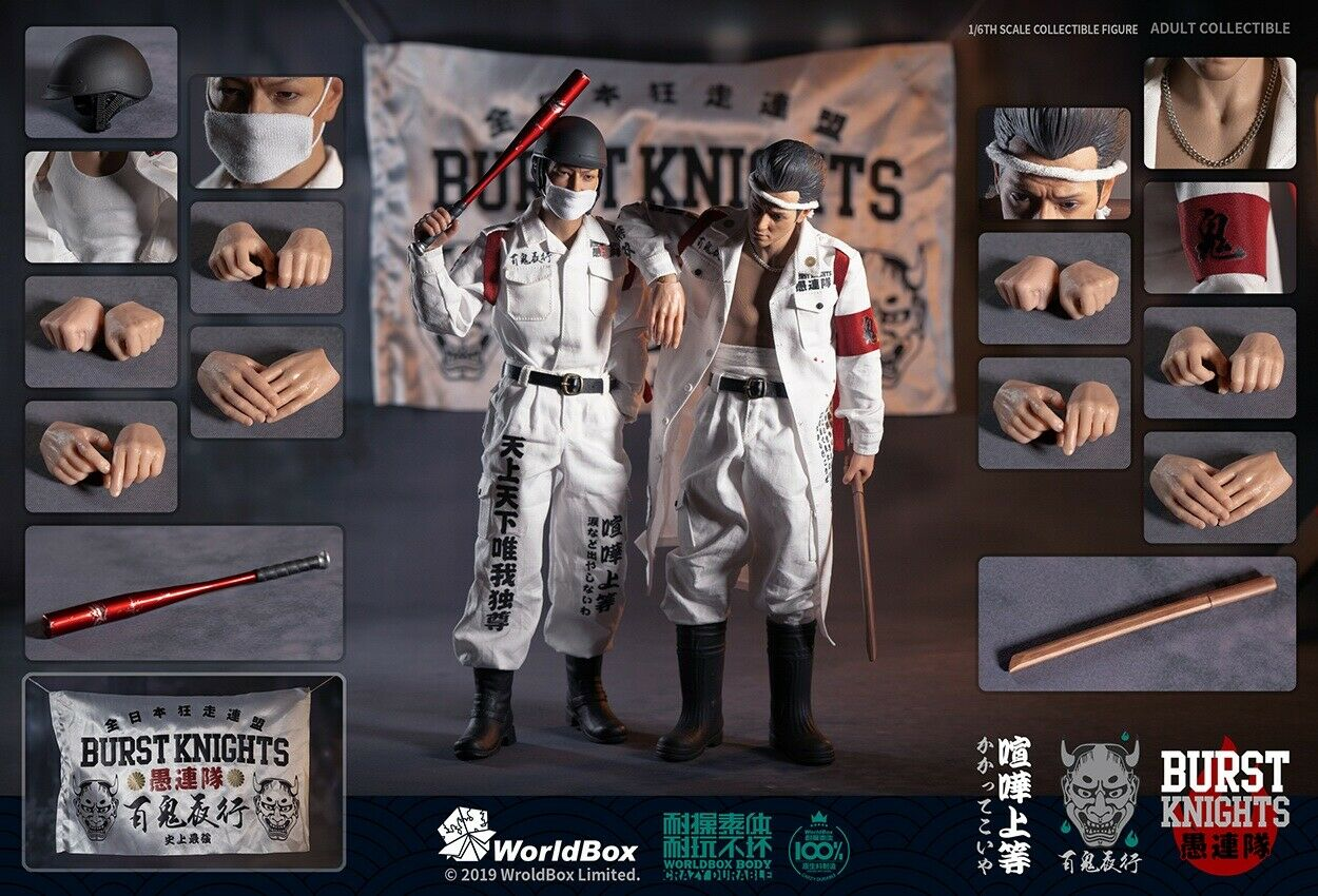 2pc 1 6 6 6 WorldBox AT029 Motocycle Gangs 12 Japan Bousouzoku The Wild One Figure 13ef80
