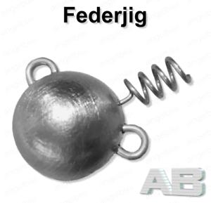 Spiral Jig 50g Jighaken für Gummifische Federjig Schraub Jigkopf 30g