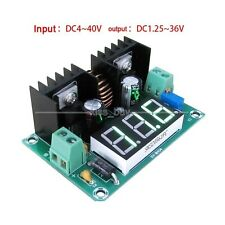 200W 8A Volt Regulator Reducer DC Converter 5V 12V 24V 1.25-36V With Voltmeter