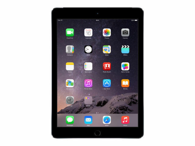 "Apple iPad Air 2 128GB, Wi-Fi only Unlock 9.7"" Space Gray A Grade Apple Box"
