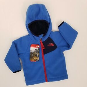 North-Face-Infant-Coat-Jacket-Blue-0-3-Months-Boys-Fleece-Chimborazo-Hoodie