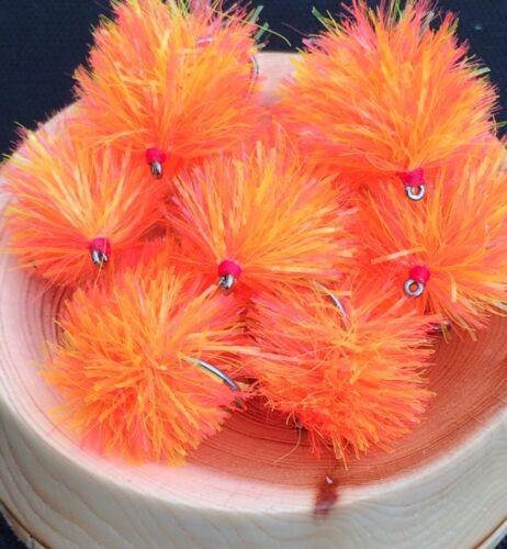 3 x Fruit Cocktail Blob Fly Sz10 Barbless Flybox Fritz Glo-Brite Head Blob Flies