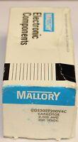 Mallory Capacitor 2000 Mfd 200 Wvdc Cgs202t200v4c