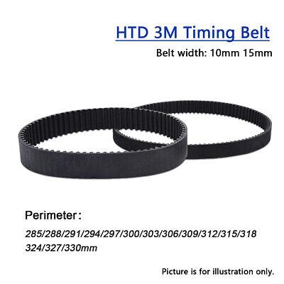 FidgetGear 2PCS HTD 3M Timing Belt Closed Loop Belt Pitch 3mm Belt Width 15mm Length 285mm
