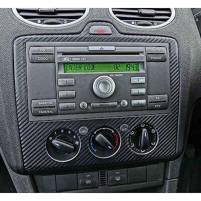 FORD FOCUS  BLACK CARBON FIBRE RADIO DASH MK2 ST RS ZETEC ST-3 TDCI
