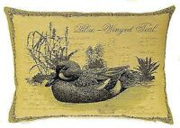 "NEW 18"" X 14"" BLUE WINGED TEAL DUCK TAPESTRY CUSHION COVER 5117"