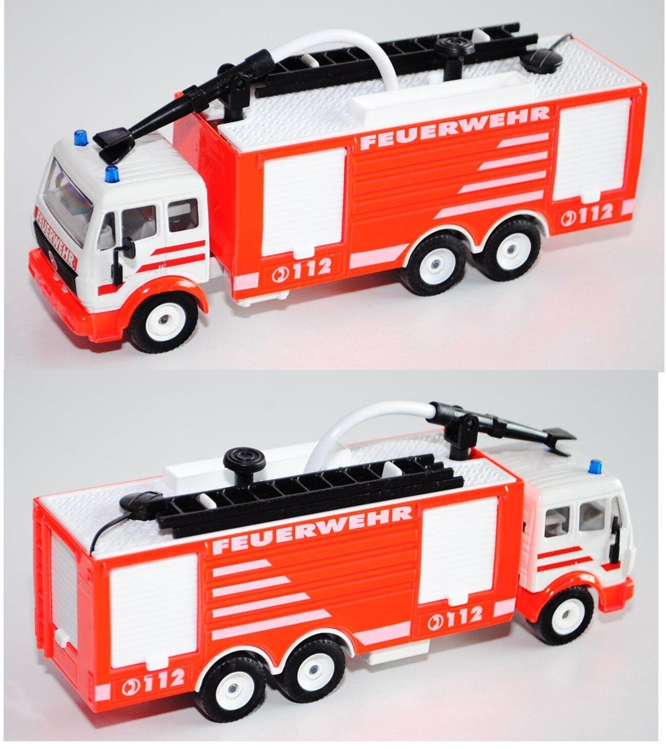 SIKU SUPER 3429 00002 MERCEDES-BENZ SK Tanklöschfahrzeug pompiers leuchtrouge