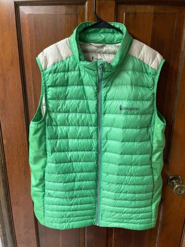 Cotopaxi Mens Down Vest XL Green