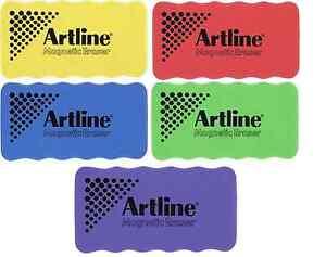 Artline Magnetic Whiteboard Eraser Purple