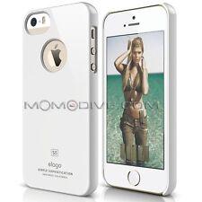 COVER ELAGO SLIM FIT IPHONE SE/5 CUSTODIA BIANCA SOFT TOUCH ELAGO SLIM FIT WHITE