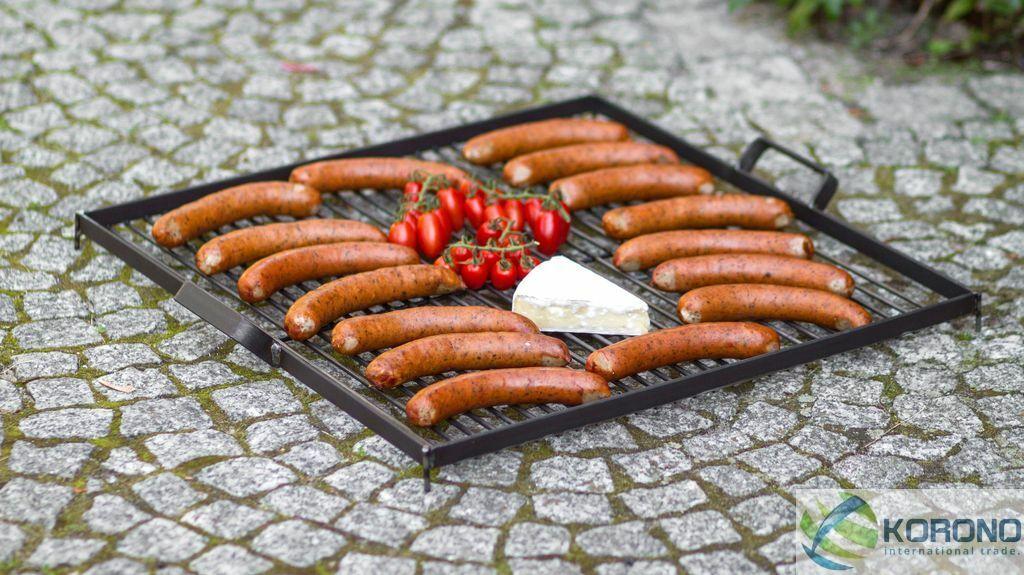 Korono acero inoxidable barbacoa con mango de acero-tres tamaños, Handmade
