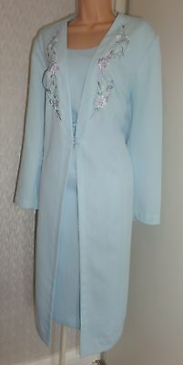 GORGEOUS LADIES WEDDING PARTY COCKTAIL DRESS & LONG JACKET SIZE UK 22