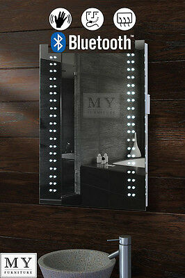 LED ILLUMINATED BATHROOM MIRROR BLUETOOTH DEMISTER / SHAVER / SENSOR - OPTICON
