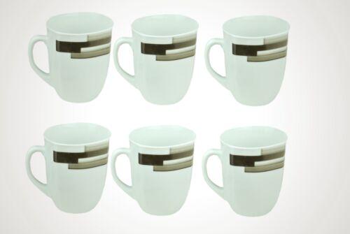 6er Set Kaffeebecher Nevada Porzellan weiß 33cl Kaffeetasse Kaffee Becher Tasse
