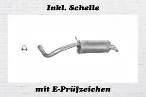 Mittelschalldämpfer VW Polo 9N Skoda Fabia Seat Ibiza IV 1,9 SDI TDI Auspuff