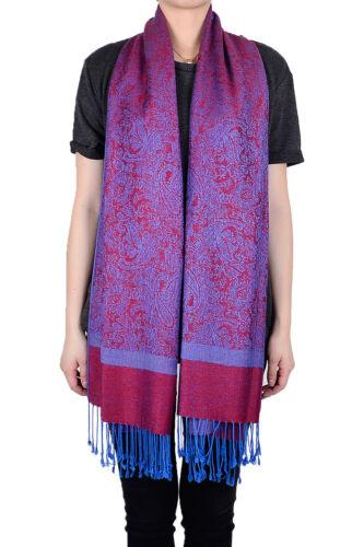 12 PCs Flower Floral Paisly Prints Pashmina Silk Scarvf Shawl Wrap Wholesale