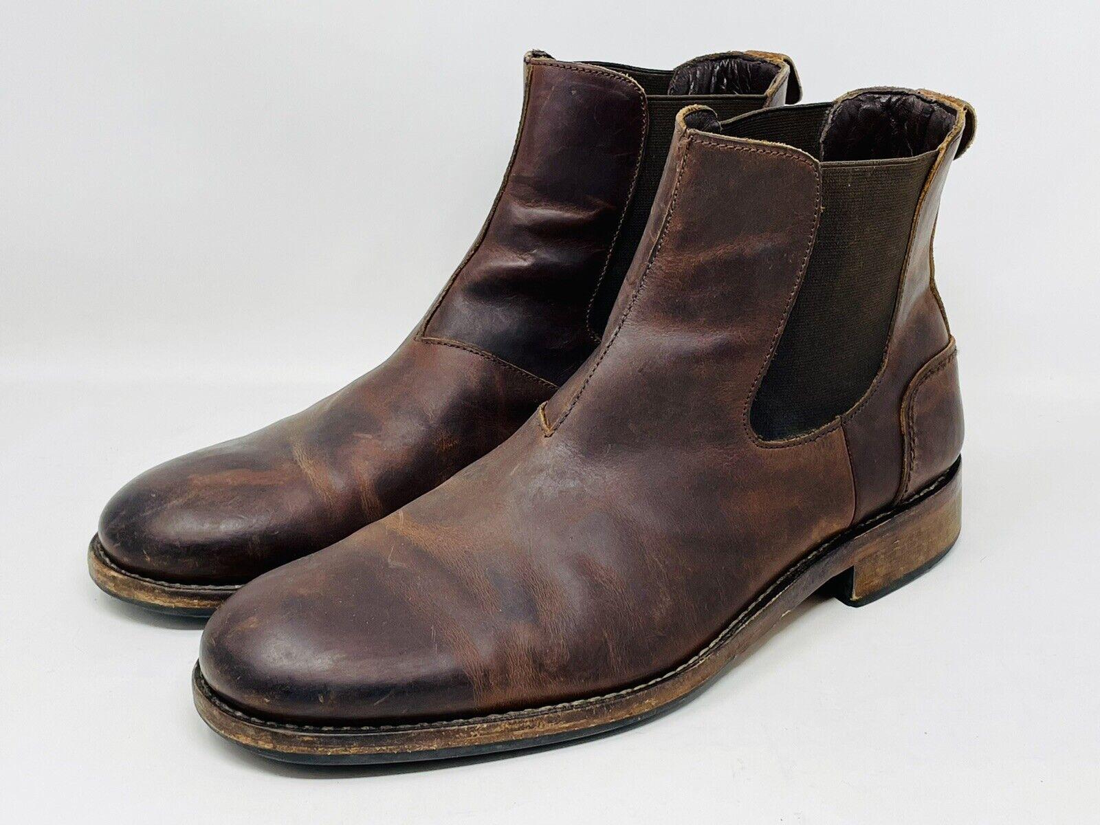 Wolverine 1000 Mile Montague Boots Brown Leather Chelsea Ankle Mens Sz 12 D