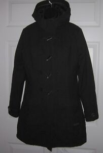 2fb54b19d6 Details about Merrell Womens Black Opti Warm Winter Jacket Coat Toggle  Buttons S / P *Sharp*