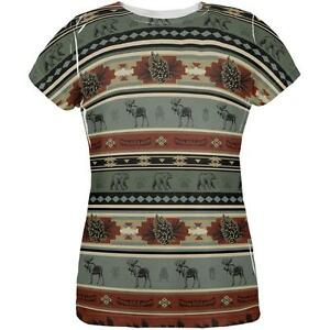 T All Bear Moose Womens Over Adirondack Shirt Pattern q7Ytz