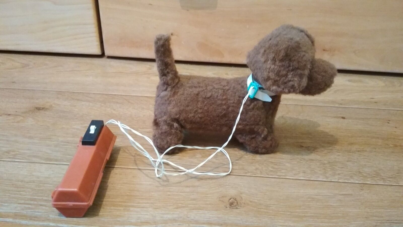 Vintage toy electric dog of the USSR