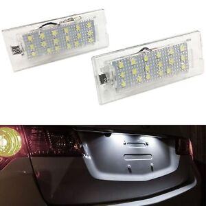 ECLAIRAGE-PLAQUE-LED-BMW-X5-E53-5-2000-1-2007-X3-E83-10-2003-3-2010-BLANC-XENON