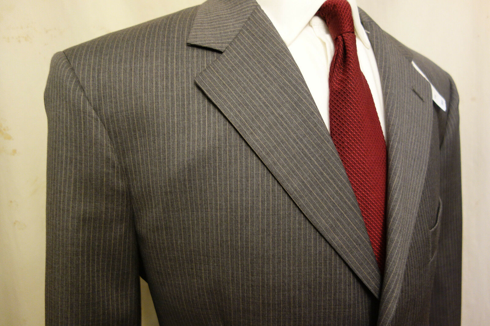 NWT Brooks Brothers 1818 Madison grau Pinstripe Wool Suit 42L  Retail 998